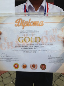GOJU RYU MALAYSIA  OPEN KARATE CHAMPIONSHIP 2015